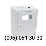 Ящик белого цвета без задней стенки для счетчика газа